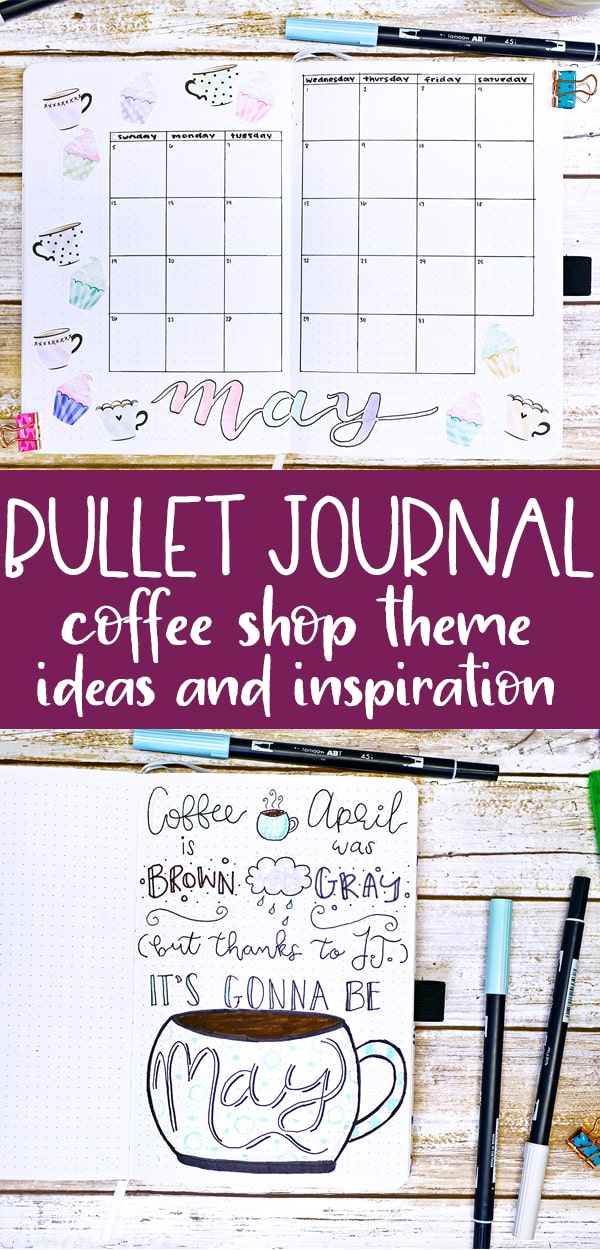 bullet journal coffee theme inspiration