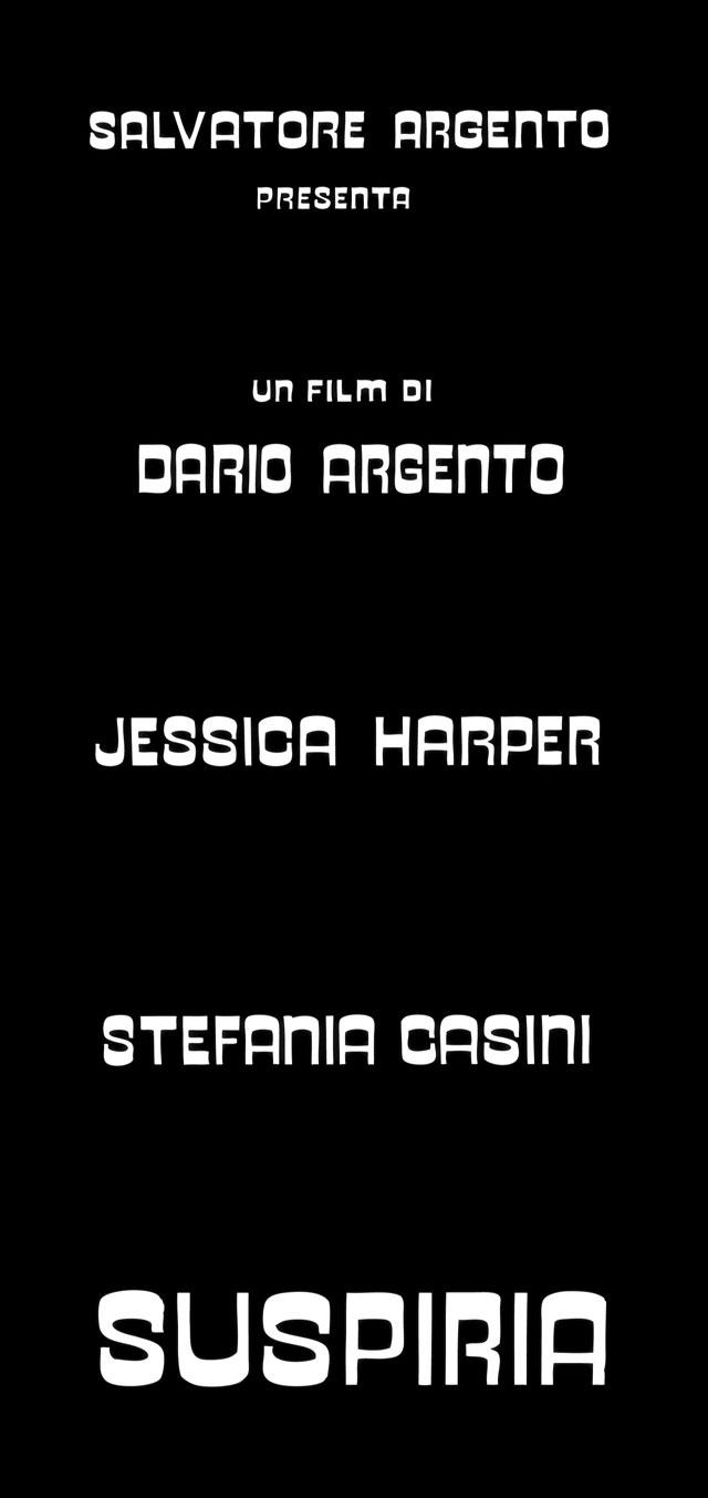 Suspiria 1977 Dario Argento