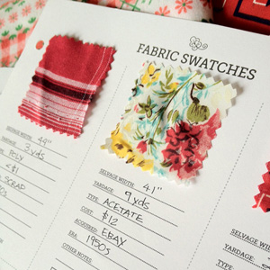Fabric Swatch Notebook Printable