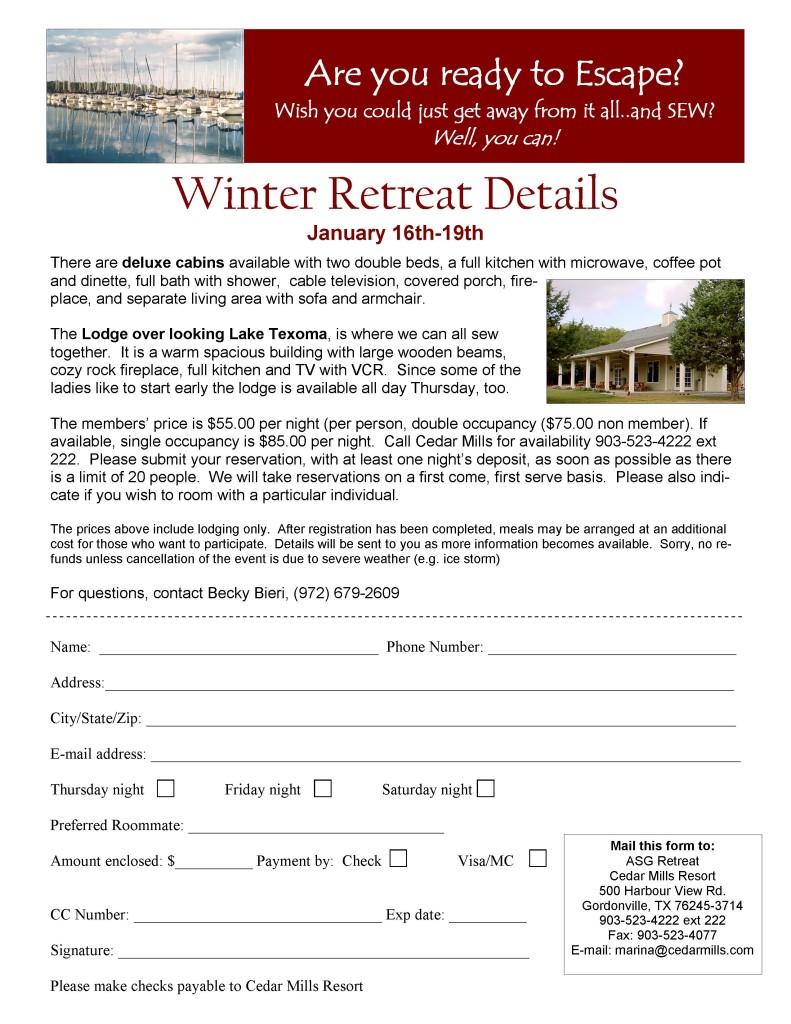 2014 ASG retreat Enrollment form
