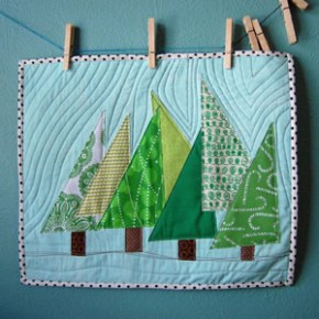 Happy Trees mini quilt