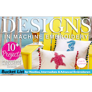 Free: Designs in Machine Embroidery – Summer Special