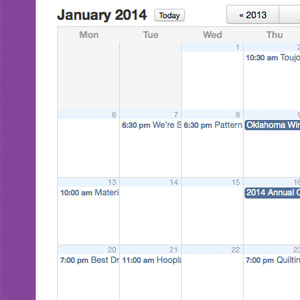 January Group Schedule Online