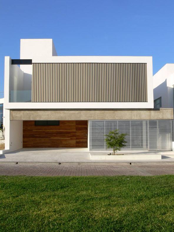 diseno de moderna casa de dos pisos