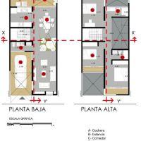 Diseño de casa pequeña y económica, propuesta de uso de concreto y ladrillo expuesto: Casa Tadeo