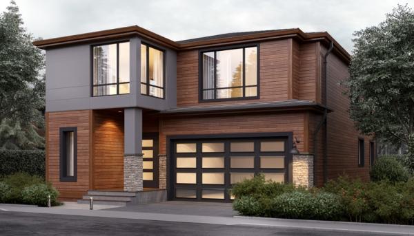Casa Moderna de Dos Pisos con 4 Dormitorios | Planos de ...