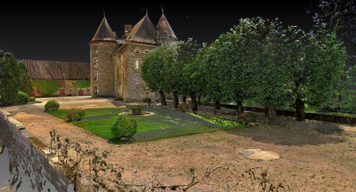Levé des façades d'un chateau pour rénovation.