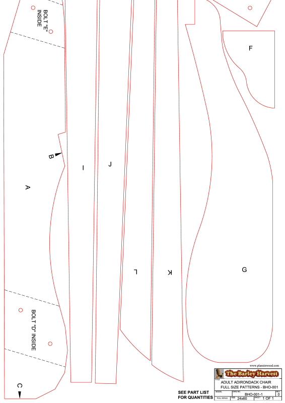 Woodwork Printable Adirondack Chair Plans PDF Plans