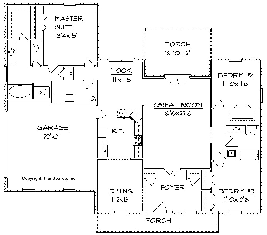 House floor plans free woodworker magazine for Free home floor plans
