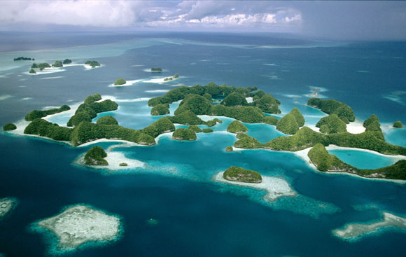 The Galapagos Islands - aerial vie