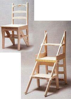 folding wooden step stool plan