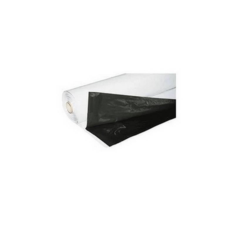 bache plastique noir blanche easygrow 125mu par