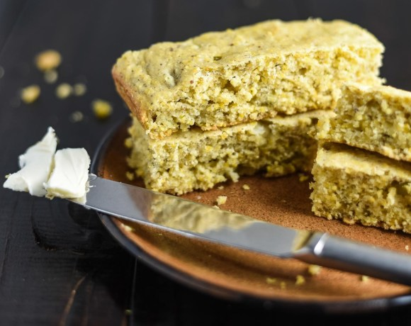 Vegan Cornbread with Green Chilis