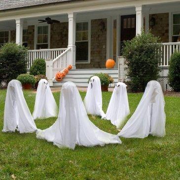 Decorar un jardín en Halloween