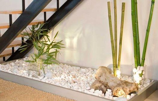 Jard n bajo la escalera - Plantas para jardin zen ...