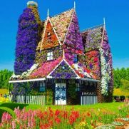 Dubai casita de flores