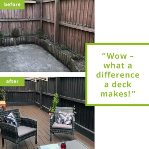 bamboo decking transforms outdoor space