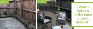 Amazing outdoor space transformation with bamboo decking