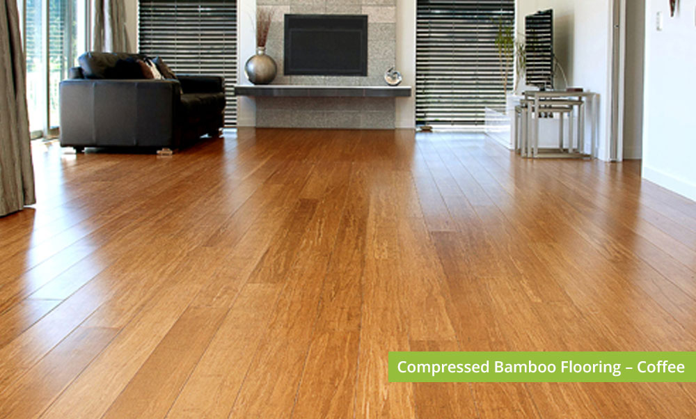 Plantation Bamboo Flooring Products New Zealand - Compressed bamboo flooring shown in coffee colour-way installed in lounge area