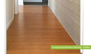 Plantation Bamboo Flooring Products New Zealand - Compressed bamboo flooring shown in coffee colour-way installed in hallway