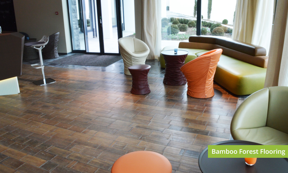 Plantation Bamboo Forest Flooring Product installed in a commercial space