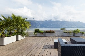 Plantation Bamboo X-treme decking with seating