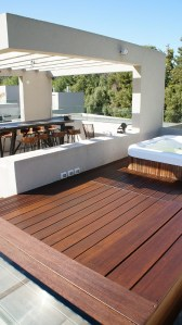 Outdoor entertaining area made from Plantation Bamboo X-treme decking