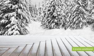 Bamboo X-treme decking - snow