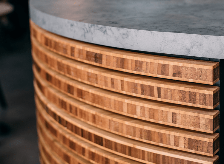 bamboo ply panels - close up shot used in restaurant