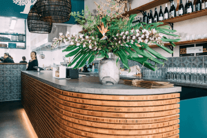 bamboo ply panels in restaurant