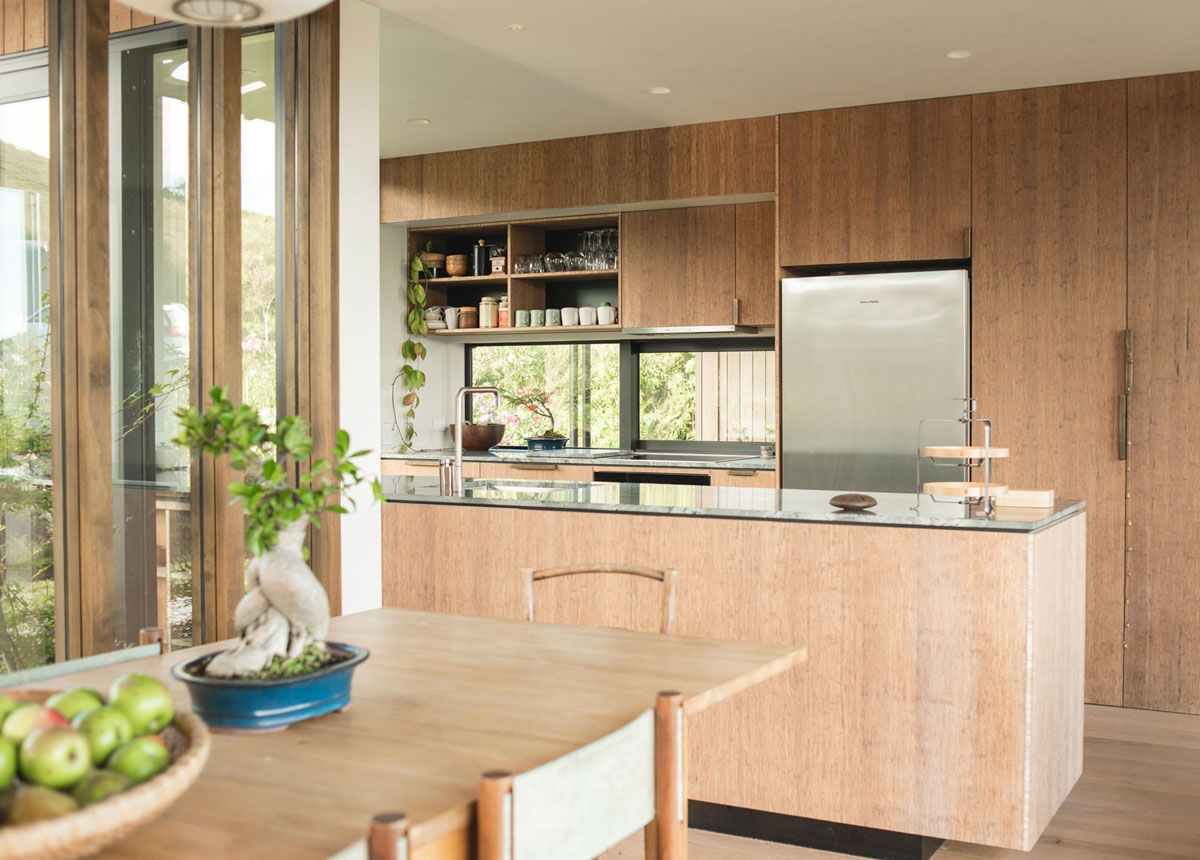 coffee coloured bamboo kitchen
