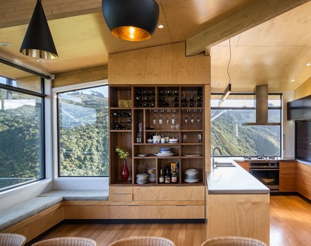 bamboo used as interior cladding