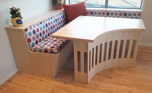 Bamboo used in furniture dining room seating