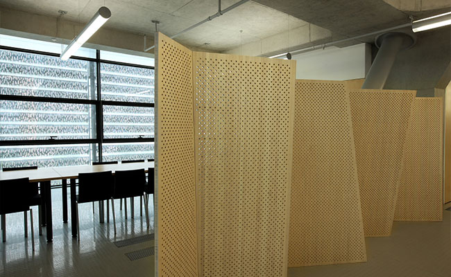 Vertical Natural Bamboo Panels