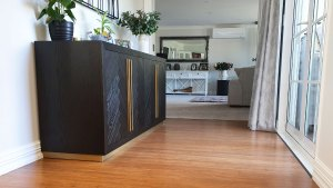 Bamboo flooring used in renovation