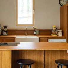 Sustainable house uses Bamboo in Kitchen