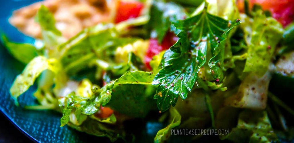 Fattoush Salad contains herbs