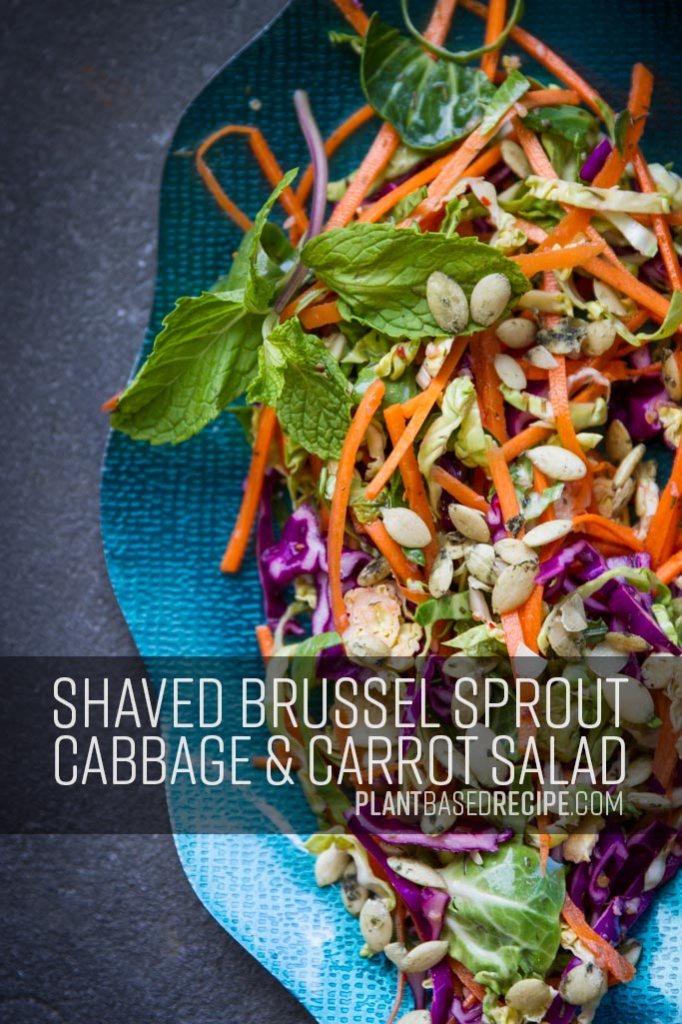 Pinterest image for vegan no oil salad.