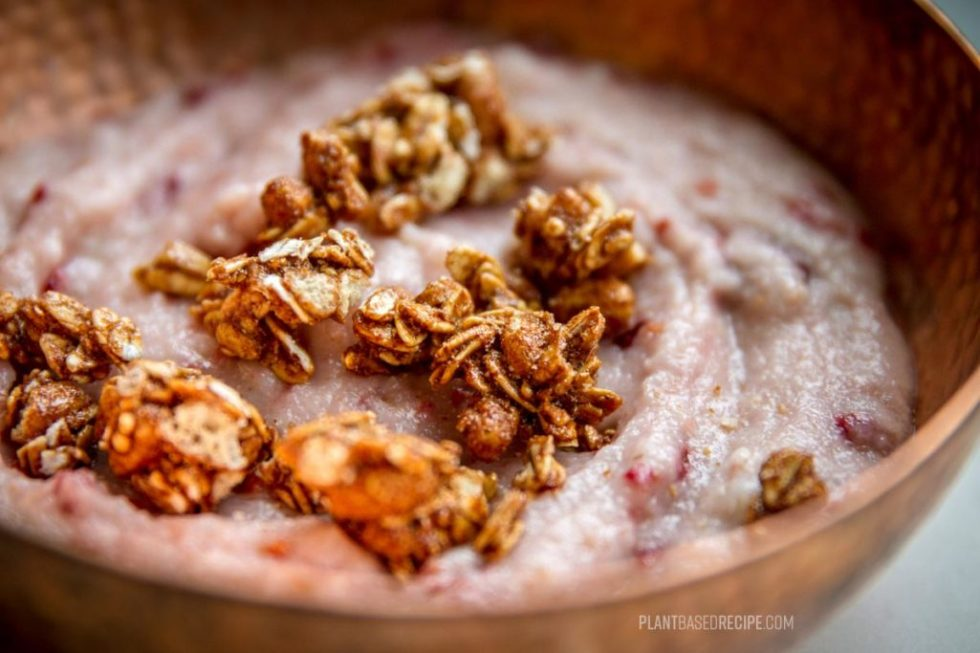 Add toppings to your plant based cream of wheat dish