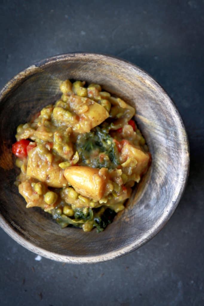 Vegan green thai curry.