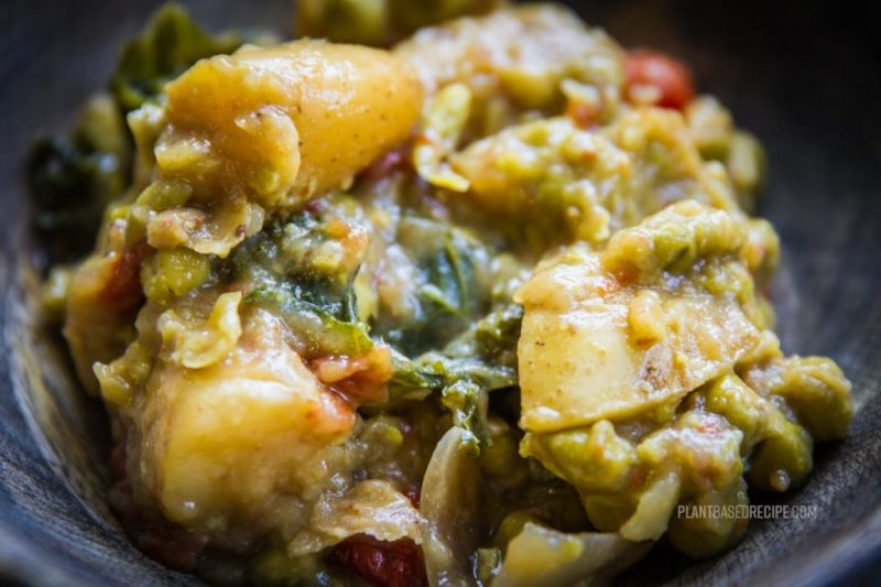 Thai green curry with potatoes