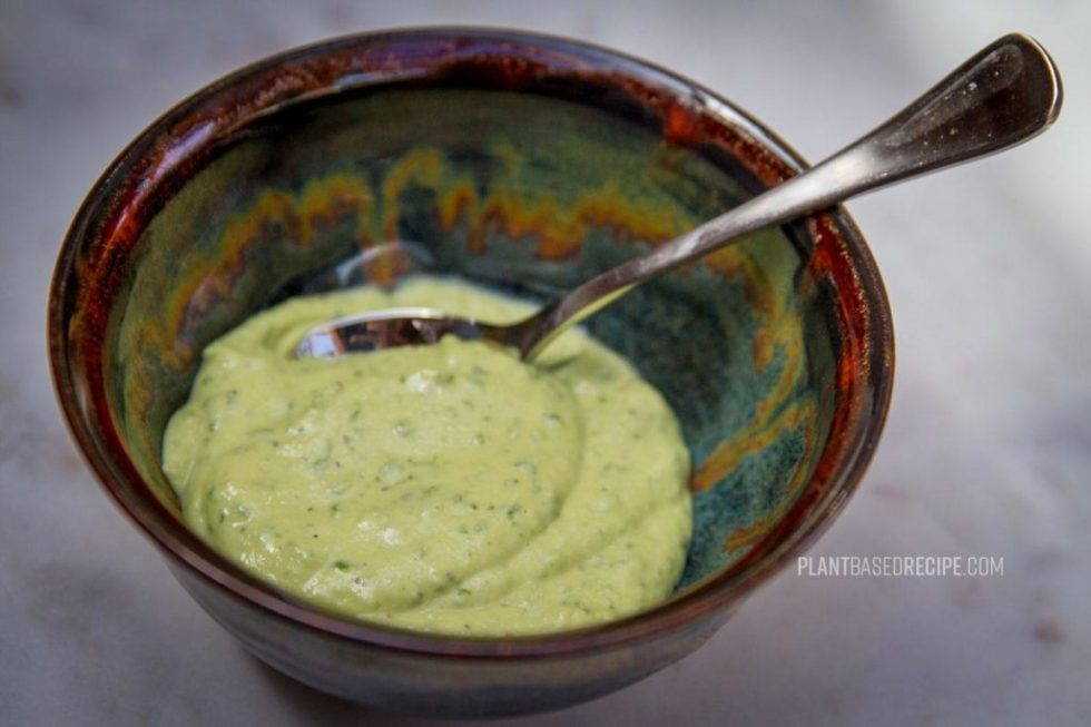 This versatile avocado spread is in a bowl.