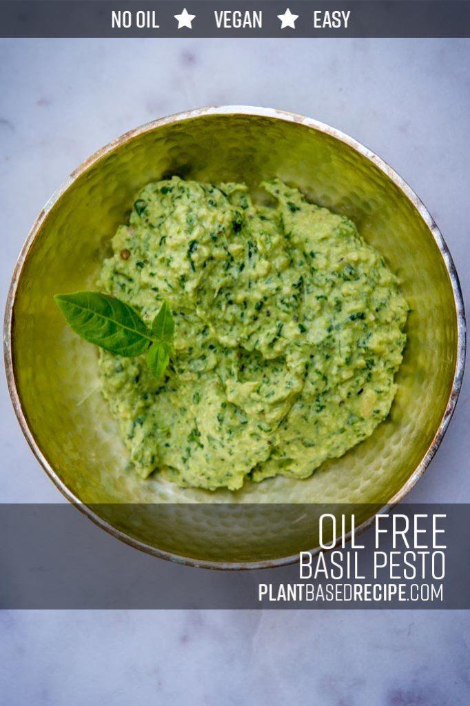 Whole Food Plant Based No oil Basil Pesto