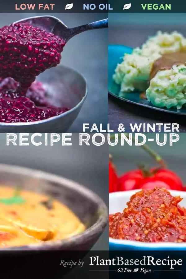 Pinterest sharable image of the vegan recipe round-up