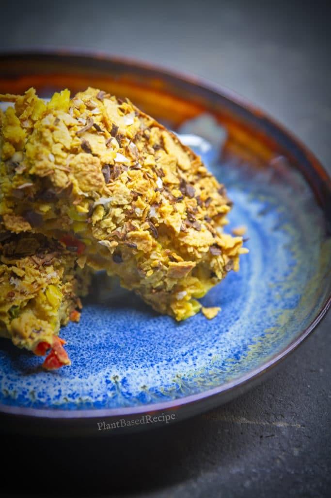 Easy vegan recipe for corn bake.