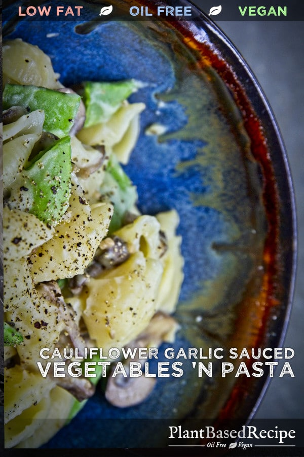 Vegan recipe for pasta and sauce to share