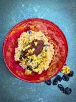 Cardamom rice pudding - vegan recipe.