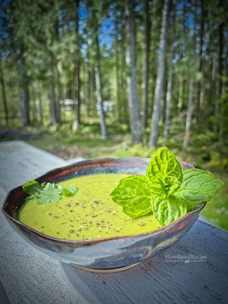 Chickpea based vegan salad dressing