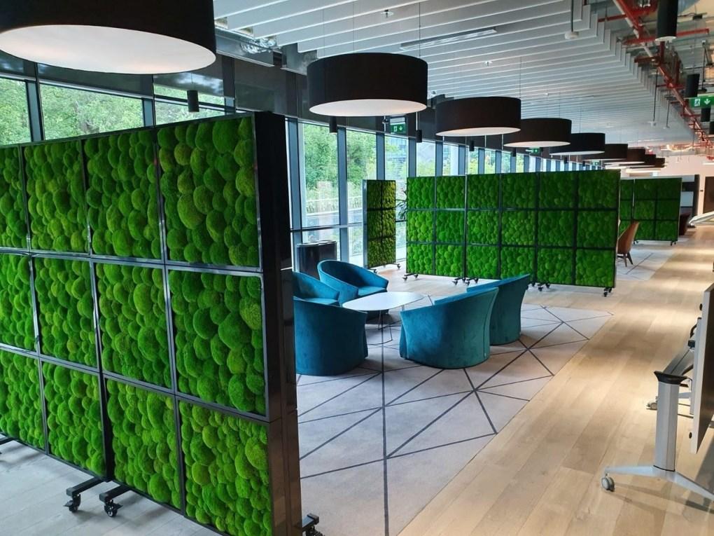 moswand kantoor - een mosmuur op je kantoor, bedrijf, restaurant, cafe of hotel