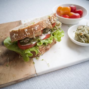 Classic american liverwurst sandwich